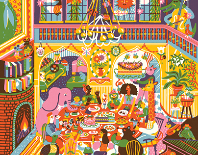 Family dinner jigsaw puzzle