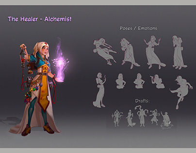 The Healer - Alchemist concept art