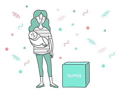 Numa. Web illustration