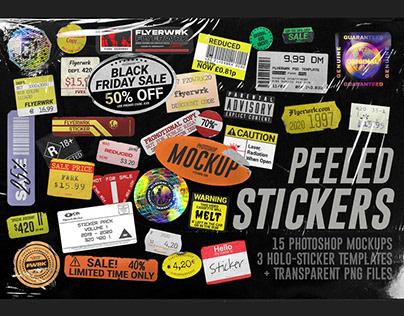 Peeled Paper StickersMockups