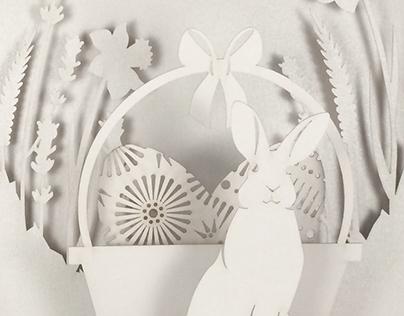 WORK IN PROGRESS - Easter Pop Up Card