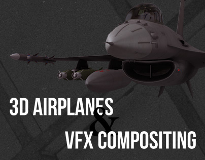 3D Airplanes & VFX Compositing with C4D & AfterEffects