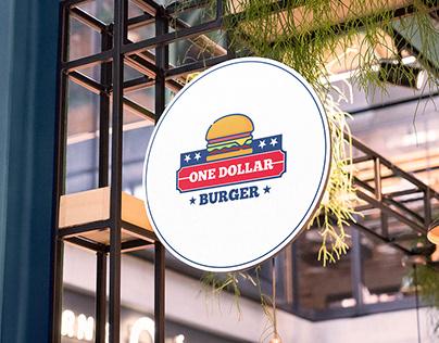 ONE DOLLAR BURGER BRANDING