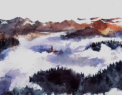 Watercolor Landscapes 2016