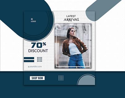 Latest Arrival Social Media Banner Design