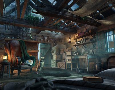 Mountain Refuge - Pixar Renderman Challenge