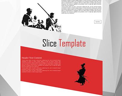Slice HTML Template