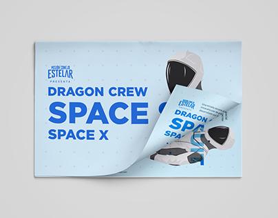 Infografía Dragon Crew Space Suite de Space X