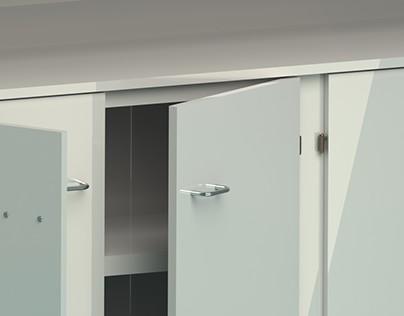 Cabinet design for attic room