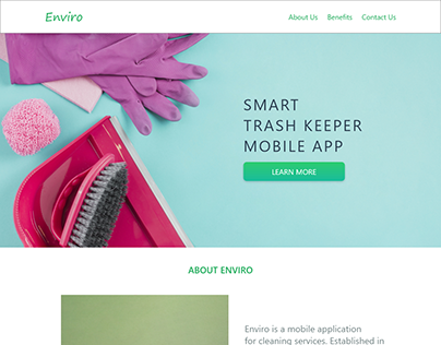 Enviro One Page Web Design