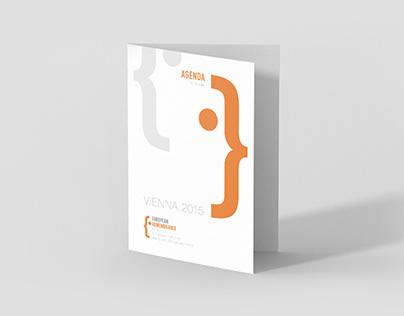 Symposium agenda // European Remembrance //print design