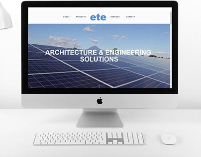 ETE INGENIERIA Website design