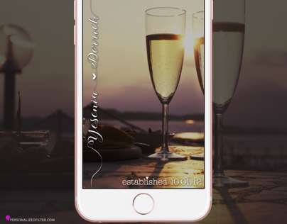 Anniversary - Wedding - Honeymoon Snapchat Geofilter