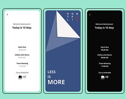 Minimalist Mobile App UIUX Designs