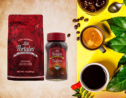 "Diseño de etiqueta para Café ""Los Portales de Córdoba"""