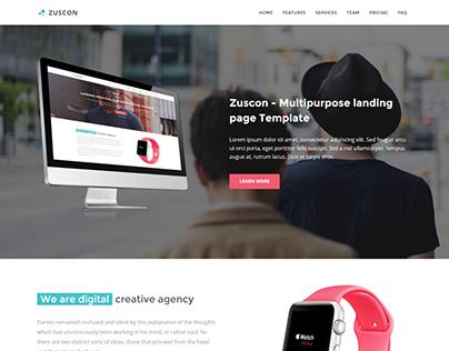 Zuscon - Multipurpose Landing Page Template