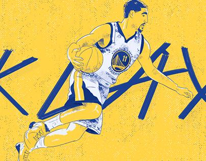 Klay Thompson Illustration