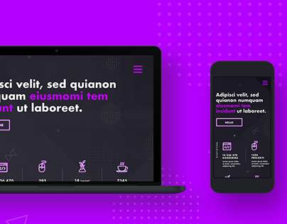 Homepage for a web developer