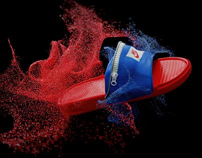3D. Nike Benassi slippers