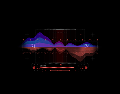 Graph Infographics Inspired Cyberpunk