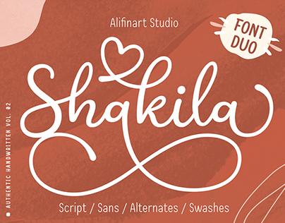 Shakila Script Font Duo | Premium Handwritten