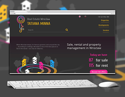 Real estate website for T.Minna agency