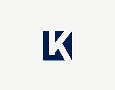 Revised Personal LK negative space monogram