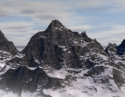 Cinema 4D mModelling-Mountain