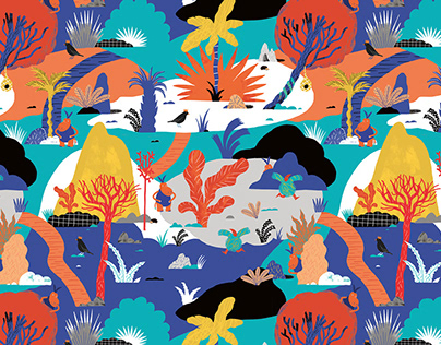 80's Inspired Textile Pattern