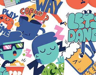 Fonzy Nils X Emogi iMessage Stickers