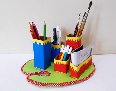 Recycled Crafts: How To Make a Desk Organizer