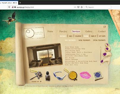 Web Design | Pure Joy Spa / joy version
