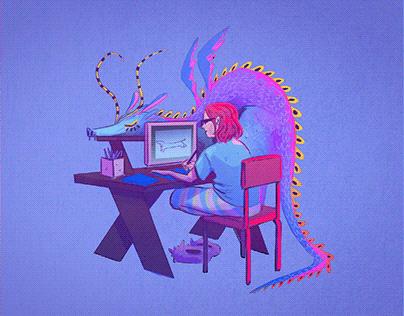 Random creature illustrations