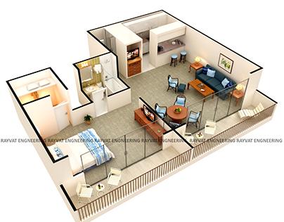 3D Interactive Floor Plans