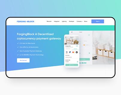 Crypto exchanger website design