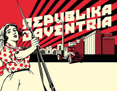 Mural and merchandise 'Republika Daventria'