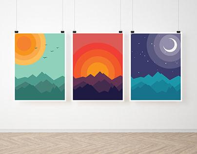 MOUNTAINS - illustrations