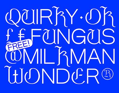 Milkman - Free Combination Display Font