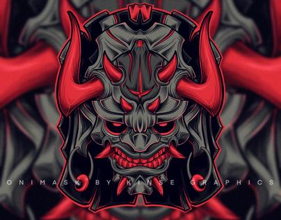 Oni Mask Digital Art Illustration | Procreate