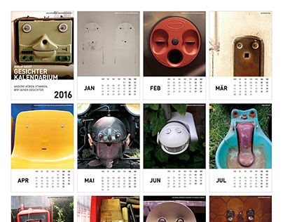 Things with faces postcard calendar 2016