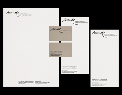 Brand Stationery — Fundação Júlio Resende