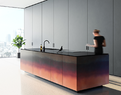 Visualization of kitchen for LINSKI DESIGN