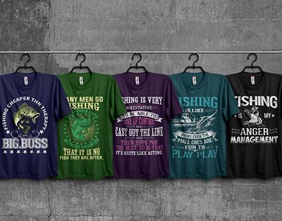 Fishing T-Shirt Design Bundle