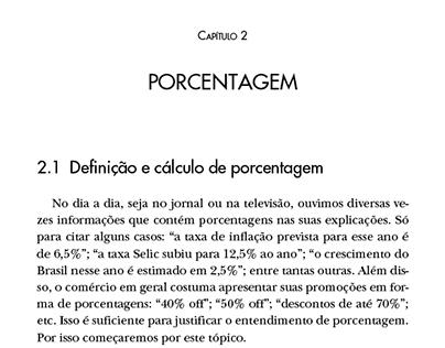 Projeto gráfico/Diagramação - Matemática financeira