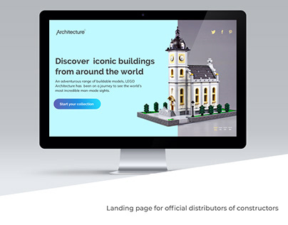 Landing page for official distributors of constructors