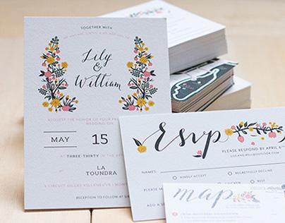 L + W Wedding Invitations