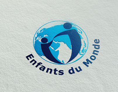 """""""Enfants du Monde asbl"""" logo and website"""