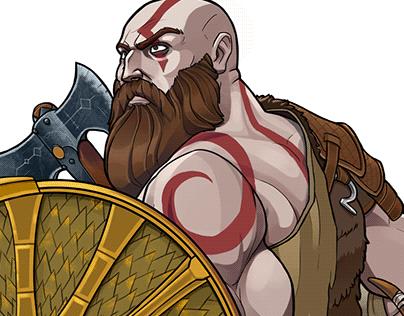 God of War Kratos and Atreus Fan Art