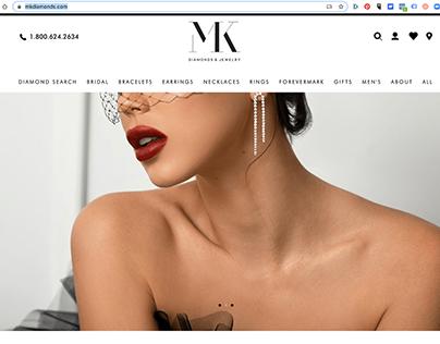 MK Diamonds and Jewelry Website ReBrand / Launch