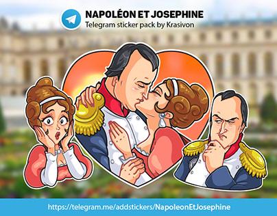 Stickers : Napoléon et Josephine